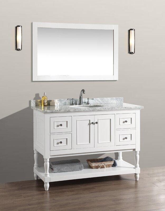 "Bathroom Vanity Sets darby home co amie 48"" single bathroom vanity set with mirror"