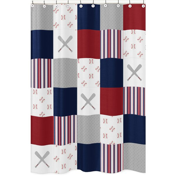 Baseball Patch Shower Curtain by Sweet Jojo Designs
