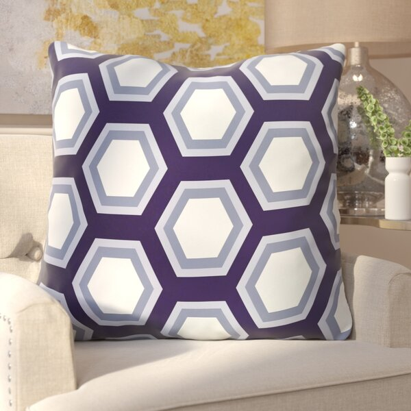 Agatha Geometric Print Outdoor Pillow by Willa Arlo Interiors