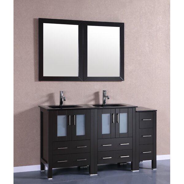 Danko 60 Double Bathroom Vanity Set with Mirror by Bosconi