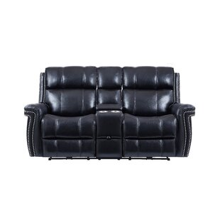 Wilkerson Power Console Headrest Reclining Sofa by DarHome Co