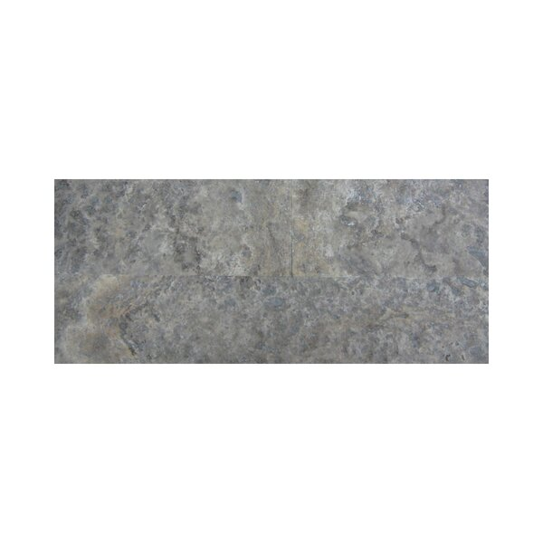 3 x 12 Travertine Subway Tile in Silver by Ephesus Stones