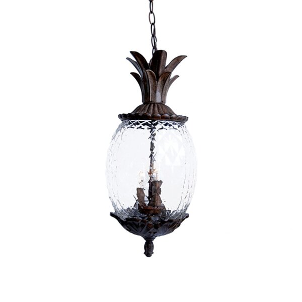 Kyra 3-Light Outdoor Pendant by Beachcrest Home