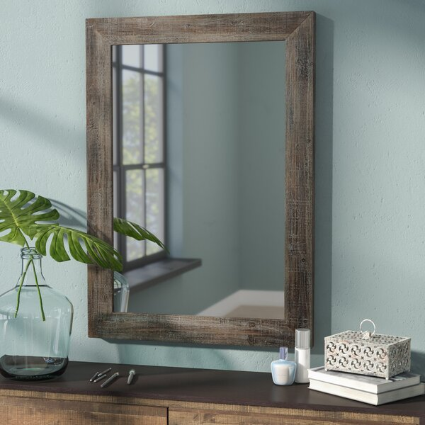 Rectangle Wood Accent Wall Mirror by Trent Austin Design