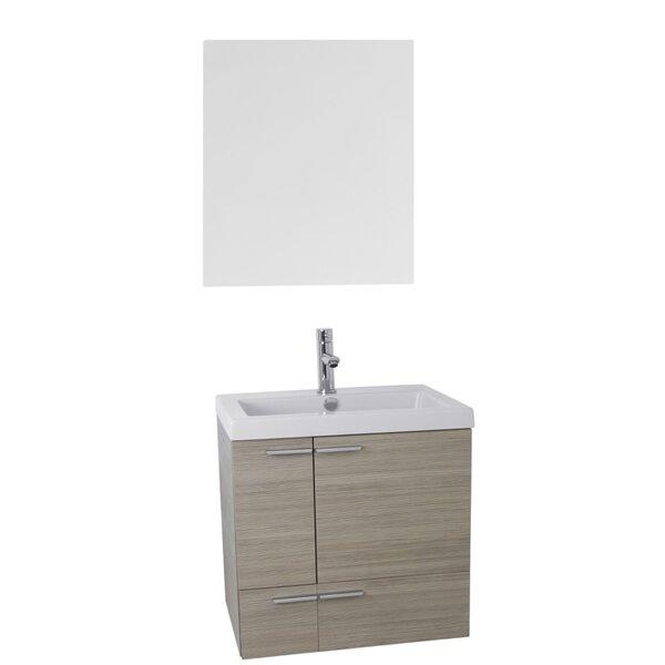 New Space 23 Single Bathroom Vanity Set with Mirror by Nameeks Vanities