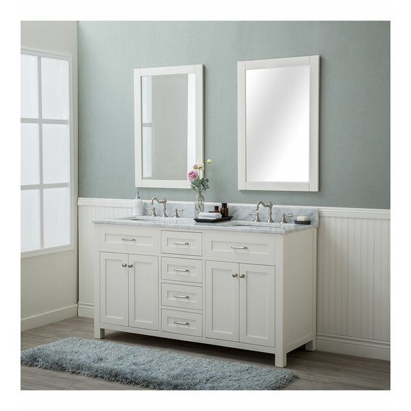 Basinger 60 Double Bathroom Vanity Set with Mirror