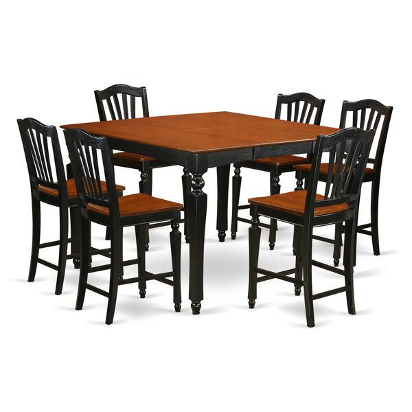 Ashworth 7 Piece Pub Table Set by Darby Home Co
