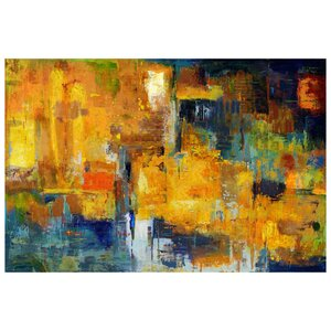 Wall Décor Sunset Painting Print on Wrapped Canvas by Mercury Row