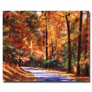 Along the Winding Road by David Lloyd Glover Painting Print on Wrapped Canvas by Trademark Fine Art