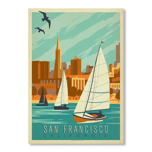 San Francisco Sailboats Vintage Advertisement by East Urban Home