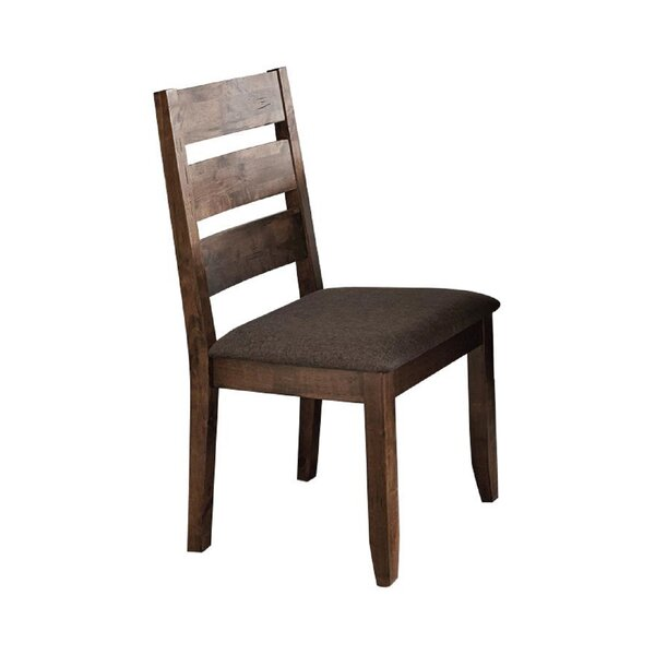 Sevtap Fabric Ladder Back Side Chair In Dark Brown By Red Barrel Studio