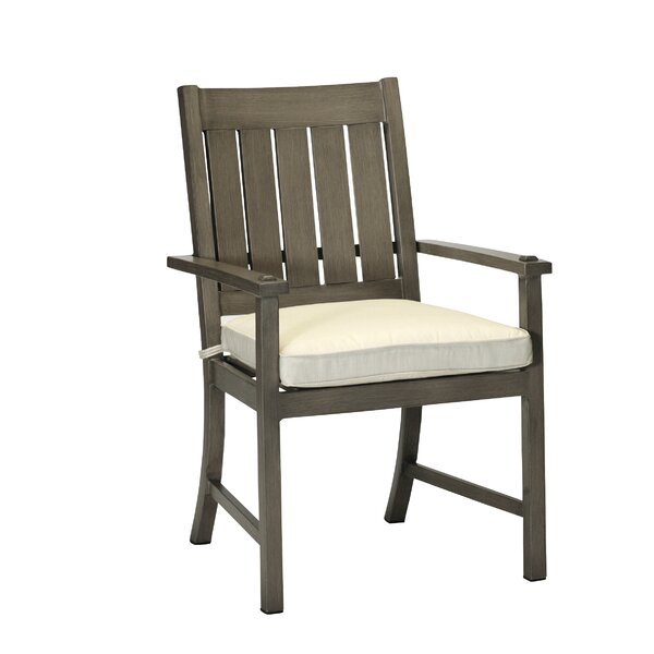 Croquet Patio Dining Chair with Cushion by Summer Classics