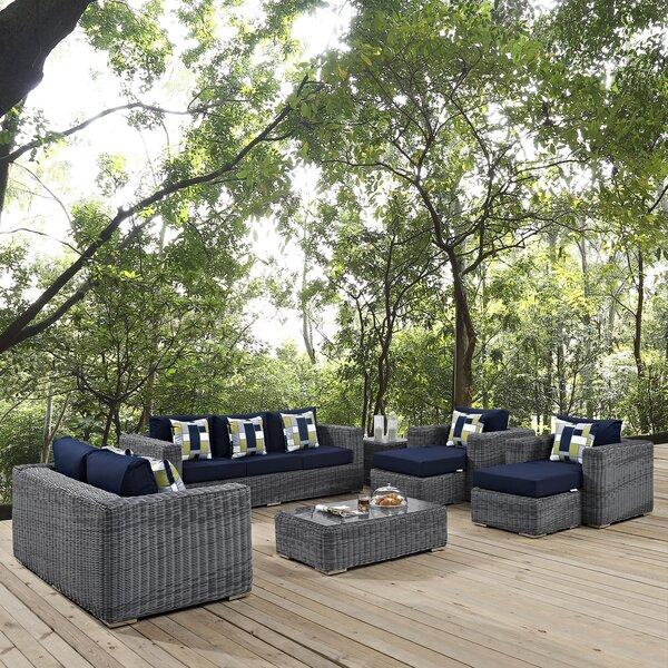 Keiran 8 Piece Sunbrella Sofa Set with Cushions by Brayden Studio