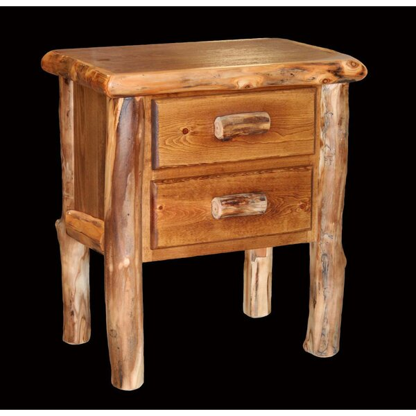 Amias 2 Drawer Nightstand by Millwood Pines