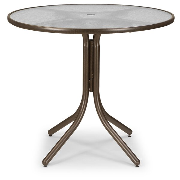 Glass Top Round Chat Table by Telescope Casual