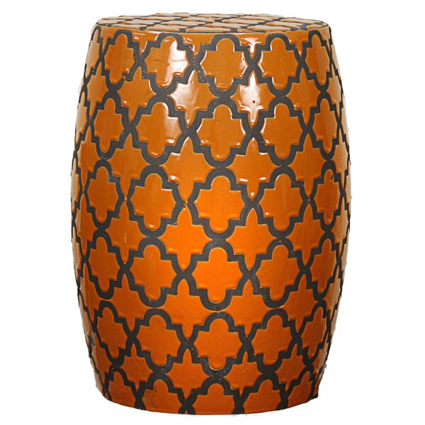 Quatrefoil Garden Stool by New Pacific Direct