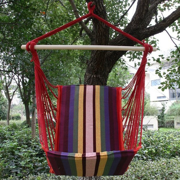 Nickerson Cotton Fabric Hanging Chair hammock by Andover Mills