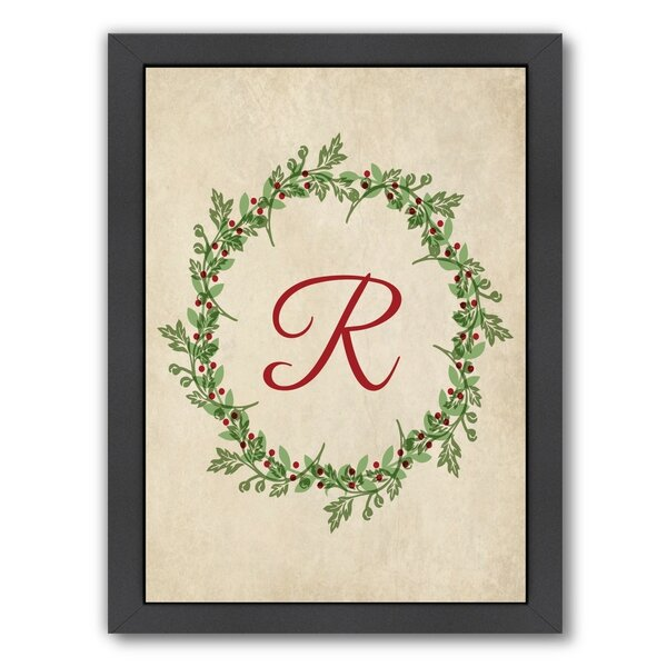 Christmas Wreath R Framed Graphic Art by The Holiday Aisle