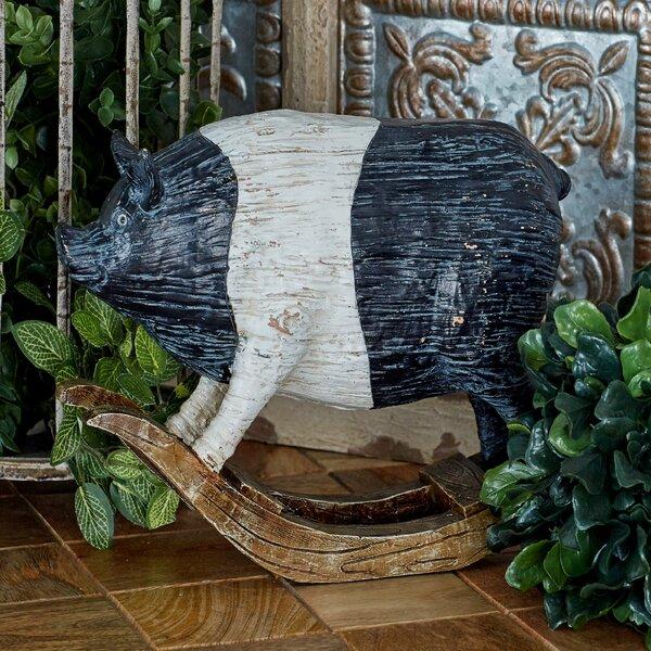 Polystone Pig Figurine by Cole & Grey