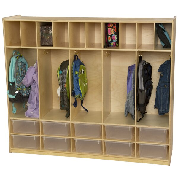5 Section Coat Locker By Wood Designs.