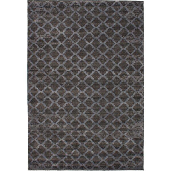 Metzler Machine Woven Dark Gray Area Rug by House of Hampton