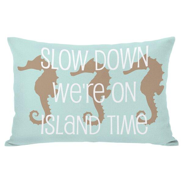 Island Time Outdoor Lumbar Pillow by One Bella Casa