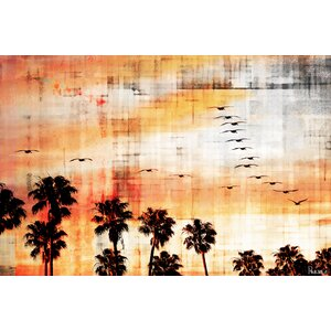 'Ocean Trails' by Parvez Taj Painting Print on Wrapped Canvas by Parvez Taj