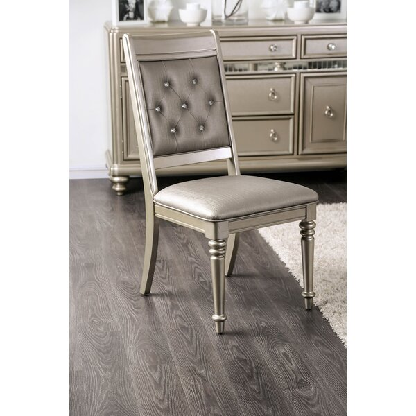 Stuttgart Button Tufted Upholstered Dining Chair (Set of 2) by House of Hampton