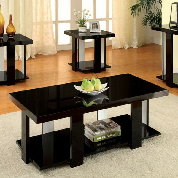 Puau Contemporary 3 Piece Coffee Table Set (Set of 3) by Latitude Run