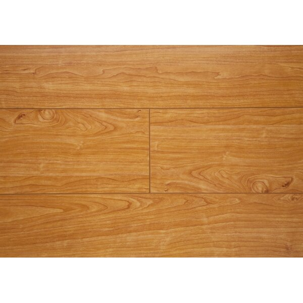 6.5 x 48 x 12mm Oak Laminate Flooring in Natural Cherry by Chic Rugz