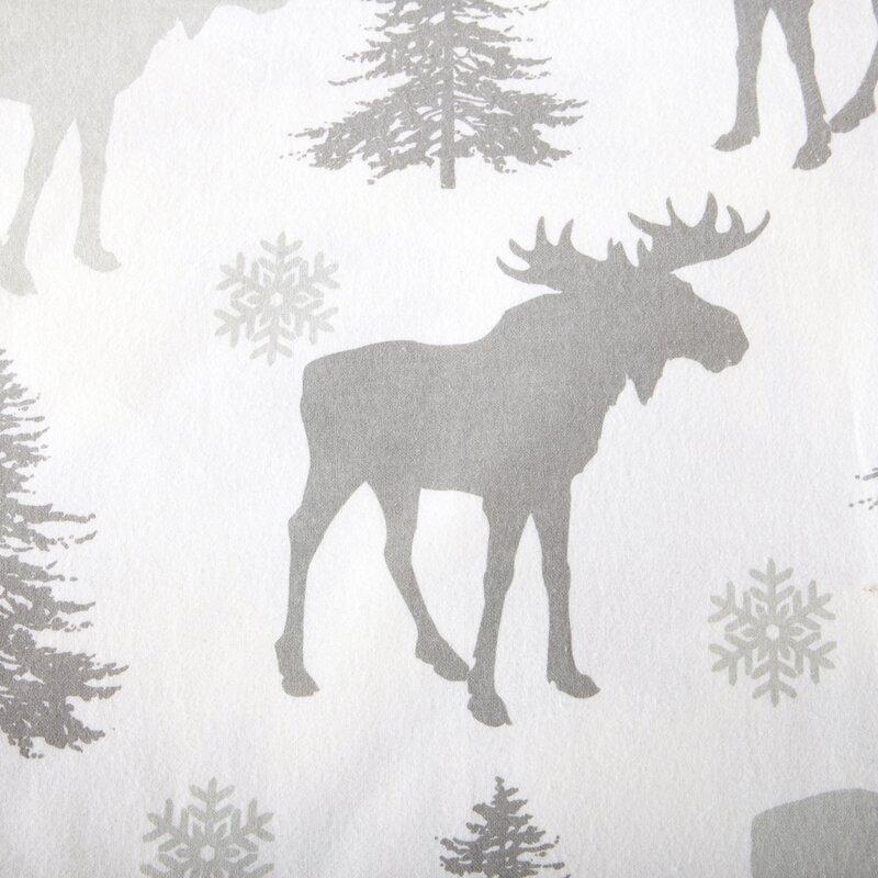 Loon Peak Clymer Moose Super Soft Printed Flannel Cotton