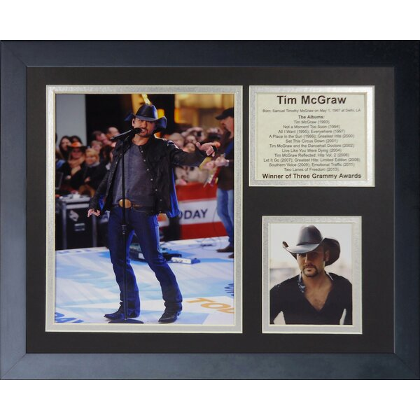 Tim McGraw Framed Memorabilia by Legends Never Die