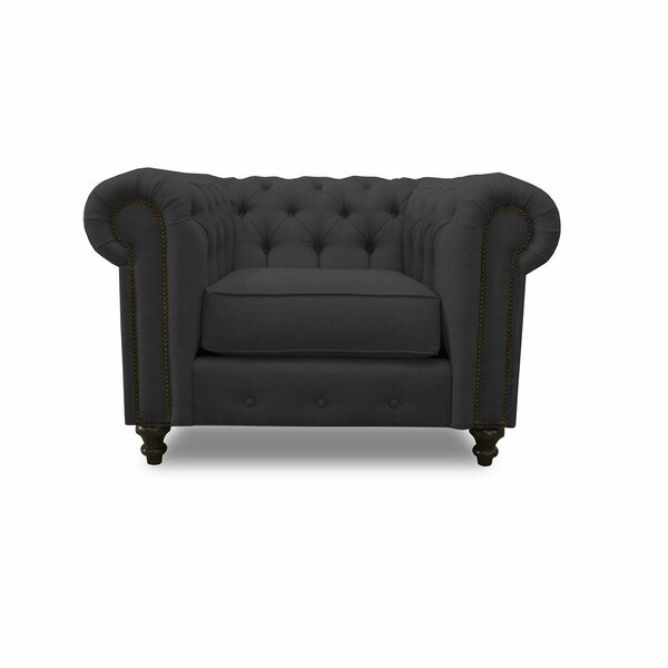 Saunders Chesterfield Chair By House Of Hampton