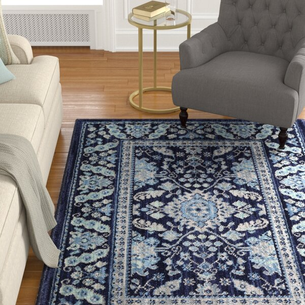 Swansea Indigo Area Rug by Alcott Hill