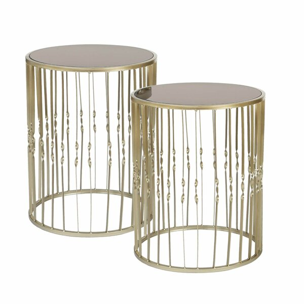 Farah Decorative Round 2 Piece Nesting Tables by Mercer41