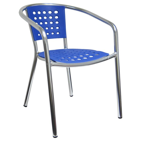 Aluminum Stacking Patio Dining Chair by H&D Restaurant Supply Inc. H&D Restaurant Supply Inc.