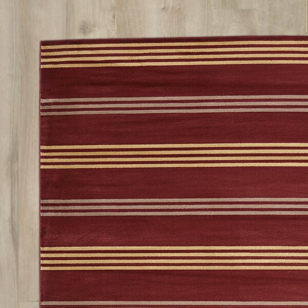 Pleasantville Red Area Rug by Three Posts