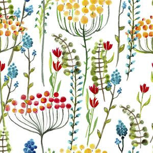 Spring Fields Removable 5' x 20 Floral Wallpaper