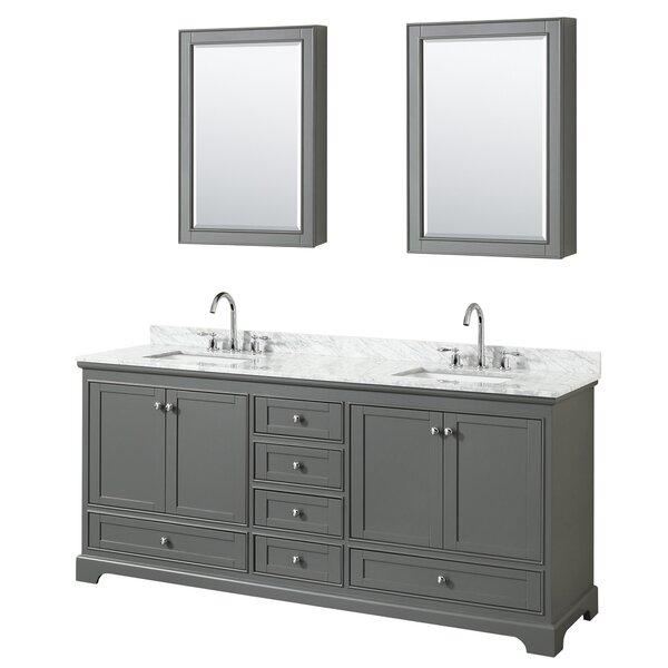 Deborah 80 Double Bathroom Vanity Set with Mirror