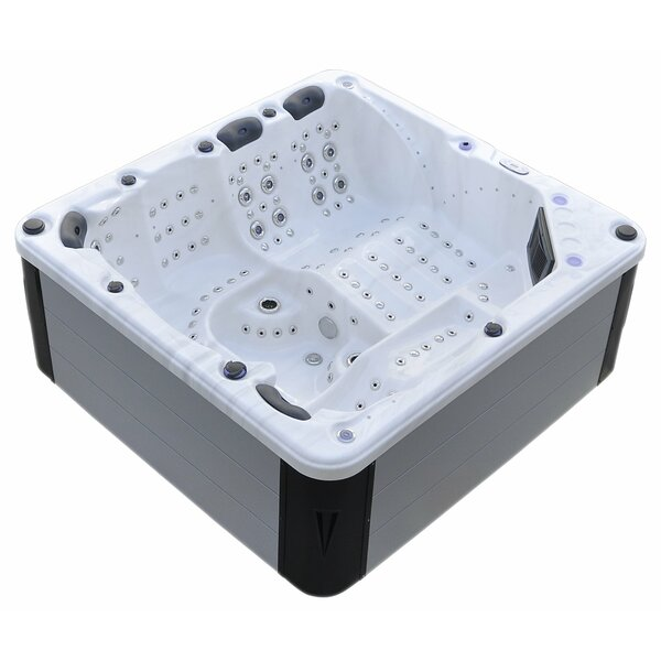 Hurricane 7-Person 164-Jet Spa with LED Lights, Bluetooth and Wi-Fi by Tropic Spa