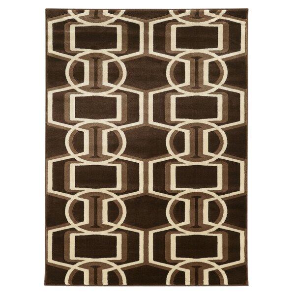 Patridge Chocolate/Beige Area Rug by Wrought Studio