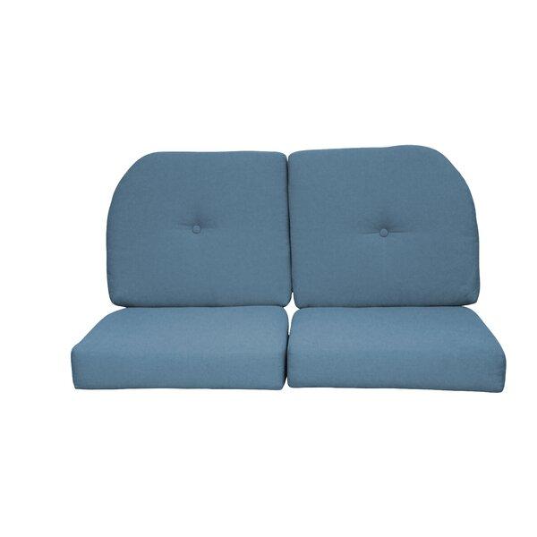Wicker Indoor/Outdoor Sunbrella Loveseat Cushion by Red Barrel Studio