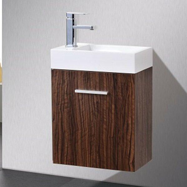 Tenafly 19 Wall-Mounted Single Bathroom Vanity Set by Wade Logan