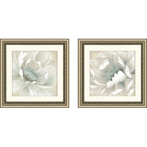 'Winter Blooms I' 2 Piece Framed Acrylic Painting Print Set by Alcott Hill