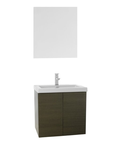 Space 23 Single Bathroom Vanity Set with Mirror by Nameeks Vanities