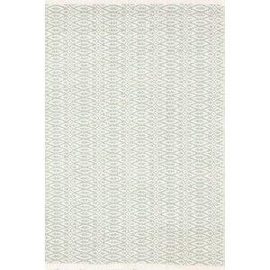 Fair Isle Hand Woven Green/White Area Rug