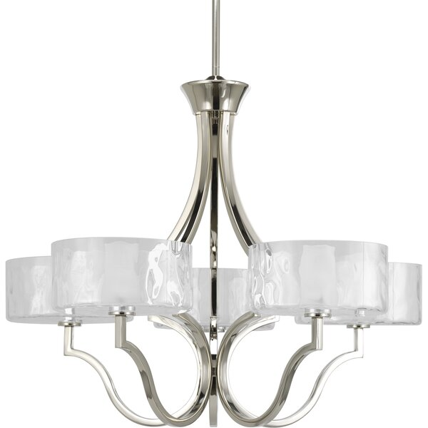 Osmanu 5 - Light Shaded Classic / Traditional Chandelier by Red Barrel Studio Red Barrel Studio