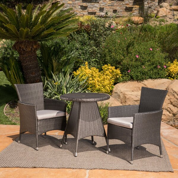 Mansfield 3 Piece Bistro Set with Cushions by Ebern Designs