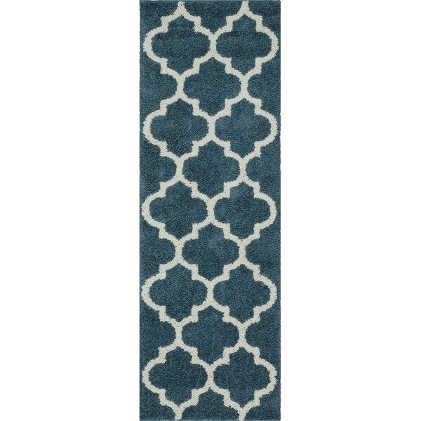Herron Blue Area Rug by Charlton Home