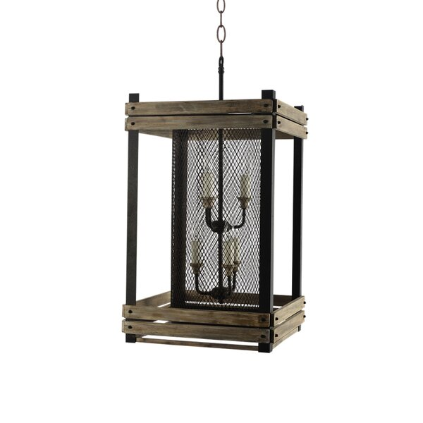 Piersiak 6-Light Unique / Statement Rectangle / Square Chandelier by Gracie Oaks Gracie Oaks